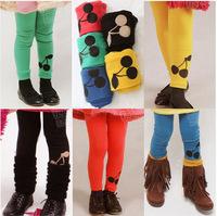 New 2014 Children's pants Girls candy child cherry trousers 6 color cotton dot children leggings Casual Trousers Children Pants