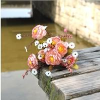 10pcs/lot Free shipping 7heads European Camellia artificial flower wedding boquet home decoration