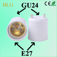 Free Shipping! New arrival, 6 pc/lot GU24 to E27 lamp adapter GU24-E27 lamp holder adapter, High quality