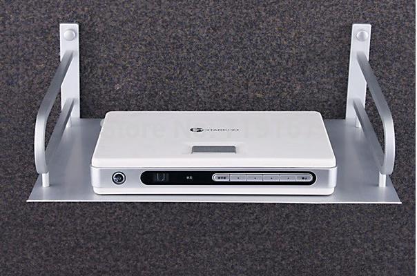 Alumínio espaço digital tv set top box suporte de montagem roteador