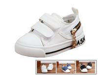 Unisex Children Casual Canvas Shoes 3 Color Available Boys girls breathable comfortable Velcro kids shoes zipper decoration shoe