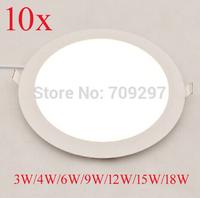 FREE DHL/FEDEX,10pcs/lot,3W 4W 6W 9W 12W 15W 18W 2835 LED panel light, white/warm white/nature white  Ceilling light 91188