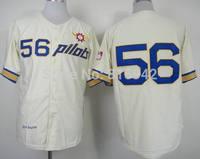 Seattle Pilots #56 #56 JIM BOUTON THROWBACK CREAM Stitched Baseball Jerseys Cheap