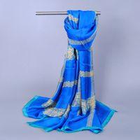 wholesale women printe lace silk popular shawls satin design long hijab wrap head muslim scarves/scarf 10pcs/lot 180*110cm