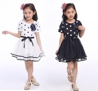 New 2014 Summer Children Dot Dress Girl dress fashion princess dress girl Free shipping