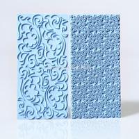 Free Shipping 1 set 15 x 7 cm Mayan Sun Floral Swirl Lace Impression Mat Cake Emboss Fondant Icing Sugarpaste