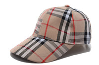 Hot 2014 New Brand Designer Fashion Sun Hats Plaid Causal Snapback Caps With Logos Chapeu For Men Women 1PC Free Shipping