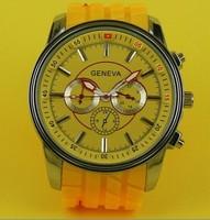 New 2014 Hot Geneva Brand atmos clock Men's Quartz Silicone Men Sports Watch Wristwatch Women Dress watches Christmas gift