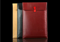 """Ultrathin PU Leather bag for Macbook Air 13"""" 13.3""""  Sleeve Cover Bag Case (BLACK/BROWN/RED COLOR) FREE SHIPPING"""