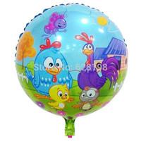 """Balloon Birthday Party Decoration chicken balloon  Baby Kids Cartoon Balloons Gift  10pcs/lot  18"""""""