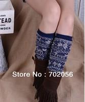 girl heart print rabbit fur wool blend long leg warmer Leg Shoes Ankle Warmer Boot Sleeves Cover 6 pairs/lot #3298