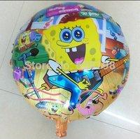 "Balloon Birthday Party Decoration SpongeBob balloon  Baby Kids Cartoon Balloons Gift  10pcs/lot  18"""