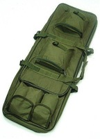 "33"" Dual Tactical Rifle Carrying Case Gun Bag Pouch OD Rifle Bag Sniper"