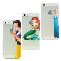 New arrival fashional cartoon figure mermaid & Snow White & Elsa pattern TPU soft shell over case foriphone 5 5S free shipping