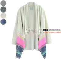 Leisure contracted fashion hair long sleeve pocket shawl