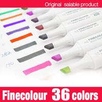 Finecolour marker pen/ twin art permanent alcohol marker pen/36 colors with a free bag