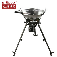 Bbq grill rack wok outdoor Large thickening portable BBQ Grills set