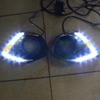 LED Daytime Running Lights For Mitsubishi New ASX 2013 2014 DRL LED Daylight Auto Car Fog Lamp Fog light Free Ship HK POST