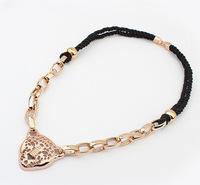 YXSP533      2014 new fashion   Retro hollow leopard head    necklace for women