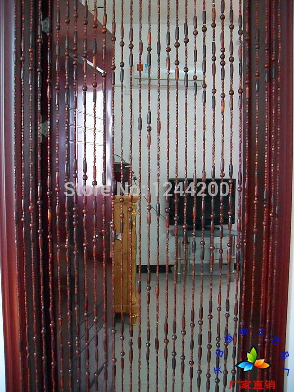 Bead door curtain, wooden bead door screen, Feng Shui bead curtain ...