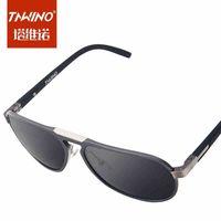 Genuine aluminum-magnesium big men sunglasses yurt big box retro sunglasses polarized sunglasses influx of people