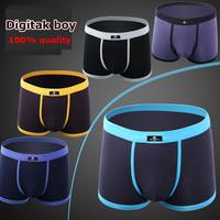 (5Pcs/Lot) 100% quality! Sexy Modal Cotton Men's Underwear Boxers cuecas Boxer Shorts swimwear men shorts Free Shipping #109g