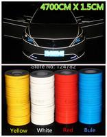 Hot 4700 CM * 1.5 CM Super reflective strip car be light garland luminous stickers body decoration full reflectors wholesale