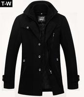 TUCM14025,2014 Fashion high quatity jacket  for men coats casual mens  woolen men's jacket winter men overcoat,free shipping