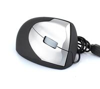 3D Ergonomic USB Optical Vertical Upright Mouse Wrist Pain Relief For Laptop PC Silver