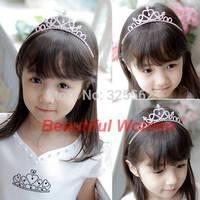 New 2014 Cute Children Kids Girls Rhinestone Princess Hair Band Crown Headband Tiara b10 sv001649 3F