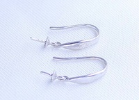 Factory direct wholesale dangle earrings Simple plate accessories DIY925 silver earrings D55/