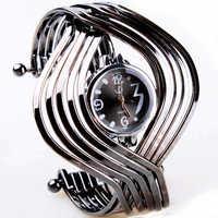 New 2014 Fashion Woman Luxury Watch Silver Steel Round Quartz Bracelet