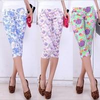 2014 New Summer Korean Version Floral Thin Elastic Waist Pant