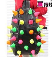 2014 new burst of color hedgehog bag hit the color embossed shoulder bag handbag shoulder bag backpack street fashion
