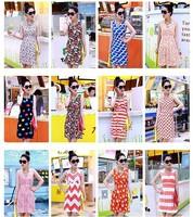 2014 summer new women's Korean printing sub-strap dress sweet and elegant dress package hip skirt Dress