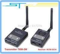 Drop ship Boscam FPV 5.8GHz 2000mw 32 Channels Wireless AV Transmitter TX58-2W and Receiver RC58-32CH For FPV system 10KM R mini