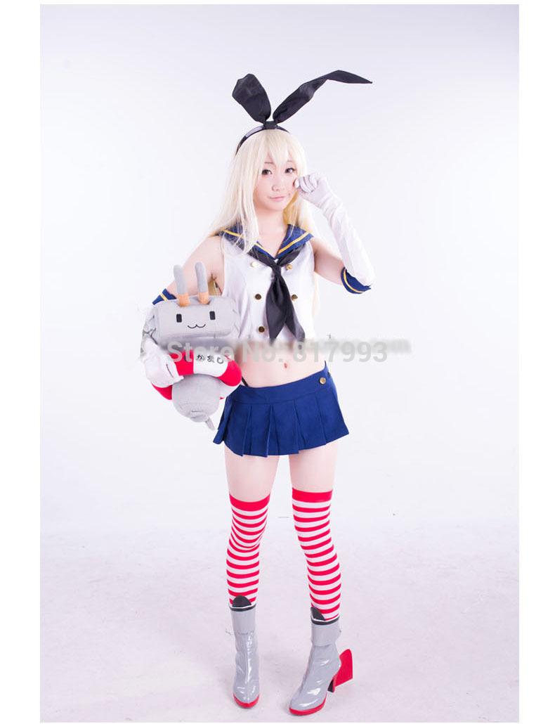 Потребительские товары Kantai Collection Kantai Shimakaze grils + + + Costume shimakaze cosplay shoes kantai collection anime boots