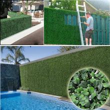 sebes do jardim artificial plantas plantas falsas 12pcs 50x50cm privacidade exterior folhagem esgrima para o casamento decora??o - G0602A001A -1(China (Mainland))