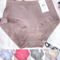 2014 new modal cotton lace big   size  high   waist  sexy  briefs  women  panties