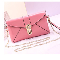 High Grade NAPPA Genuine leather Shoulder bags,New Candy color leather envelope bags with Chains,Classic Clutches handbags