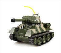 Two Fighting Battle System Tanks Mini Radio Control Battle Tank Set with Light 777-213