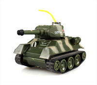 Two Fighting Battle System Tanks Mini Radio Control Battle Tank Set with Light 777-213