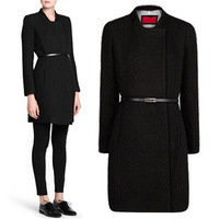 European and American women's 2014 new winter fashion wild temperament knit leisure suit jacket and long sections