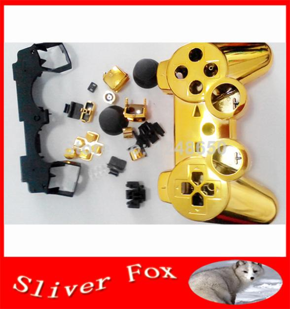2014 TOP New Hot Fashion Golden Protective Plastic Case for Playstation 3 PS3 Controller Case Skin Cover Free Shipping(China (Mainland))