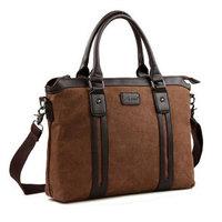 2014 Limited Business Men Handbag Totes / Patchwork Zipper Canvas Computer Briefcase / Top Fashion Messenger Bag Man Portfolio