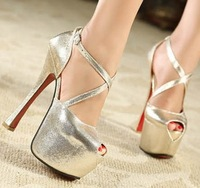 9-free shipping2013 new style woman cross platform pumps/sandals ladies/female fish-mouth sexy high heeled shoes,heels/footwear