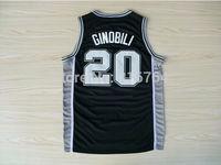 #20 Manu Ginobili Brand New Jerseys black Basketball Jersey