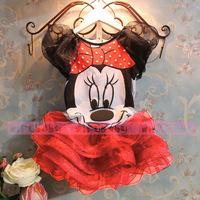 Fashion Girl's Minnie t shirt + Tutu Skirt 2pcs Outfits Kids Clothes Sets conjuntos Girls Clothing Sets