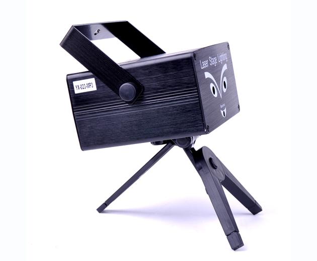 Mini laser fase di accensione + mp3 musica + interfaccia usb