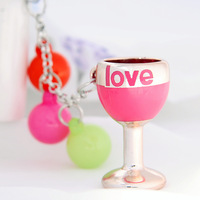 HS050 Candy cute love cup style  key chain  fashion keychain 13cm Free shipping